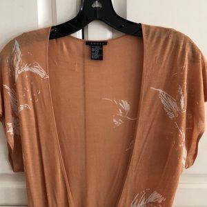 Theory Tops - Theory Orange Open Drape Blouse 🧡